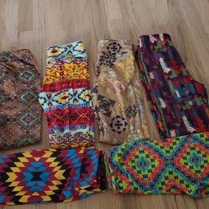 6 pair lot of Lularoe tween leggings